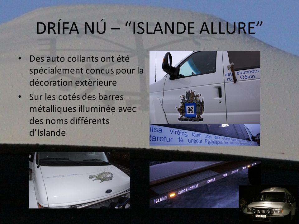 Des auto collants ont été spécialement concus pour la décoration extèrieure Sur les cotés des barres métalliques illuminée avec des noms différents dI