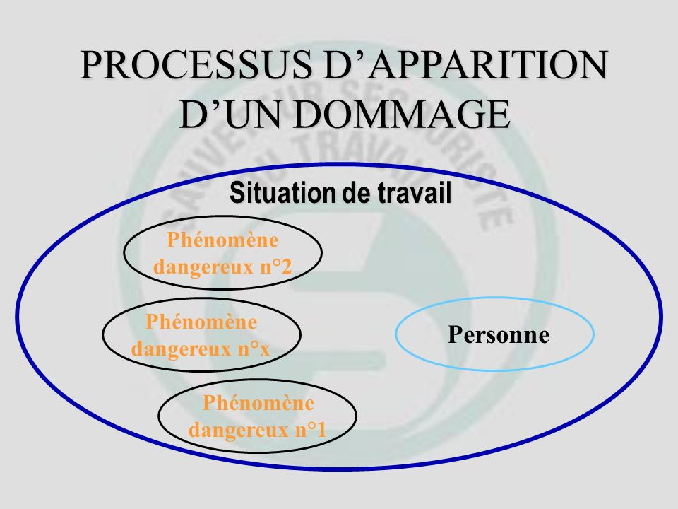 PROCESSUS DAPPARITION DUN DOMMAGE Situation de travail TRAVAIL RÉEL