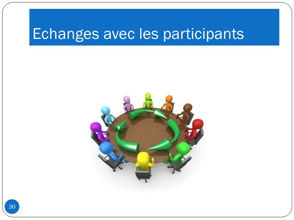 Echanges avec les participants 30