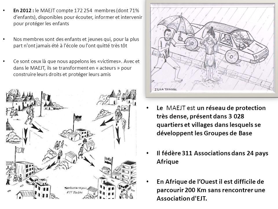 En 2012 : le MAEJT compte 172 254 membres (dont 71% denfants), disponibles pour écouter, informer et intervenir pour protéger les enfants Nos membres