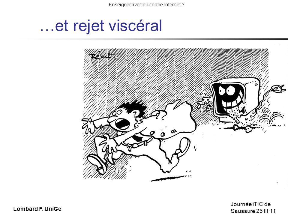 Enseigner avec ou contre Internet .Journée iTIC de Saussure 25 III 11 Lombard F.