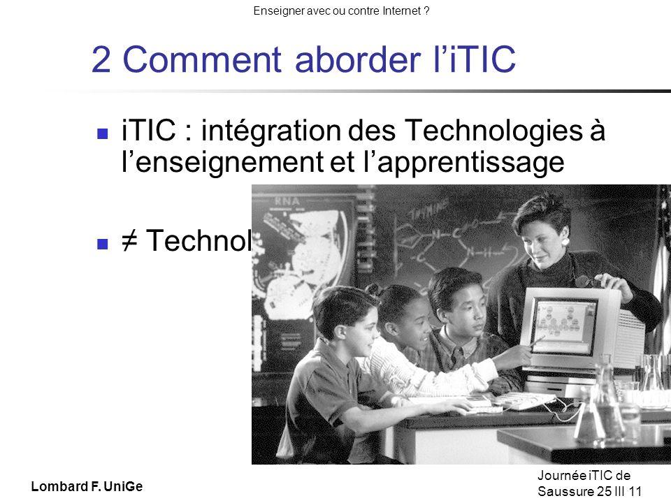 Enseigner avec ou contre Internet .Journée iTIC de Saussure 25 III 11 Apprendre les techniques .
