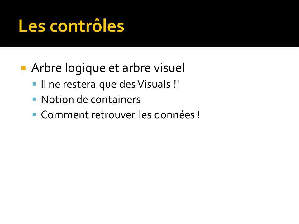 Les contrôles Arbre logique et arbre visuel Il ne restera que des Visuals !.