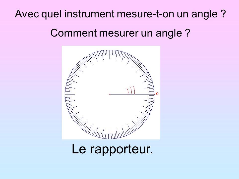 Avec quel instrument mesure-t-on un angle ? Comment mesurer un angle ? Le rapporteur.