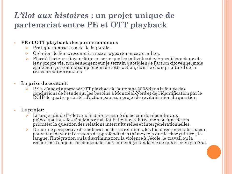 Lîlot aux histoires : un projet unique de partenariat entre PE et OTT playback PE et OTT playback : les points communs Pratique et mise en acte de la