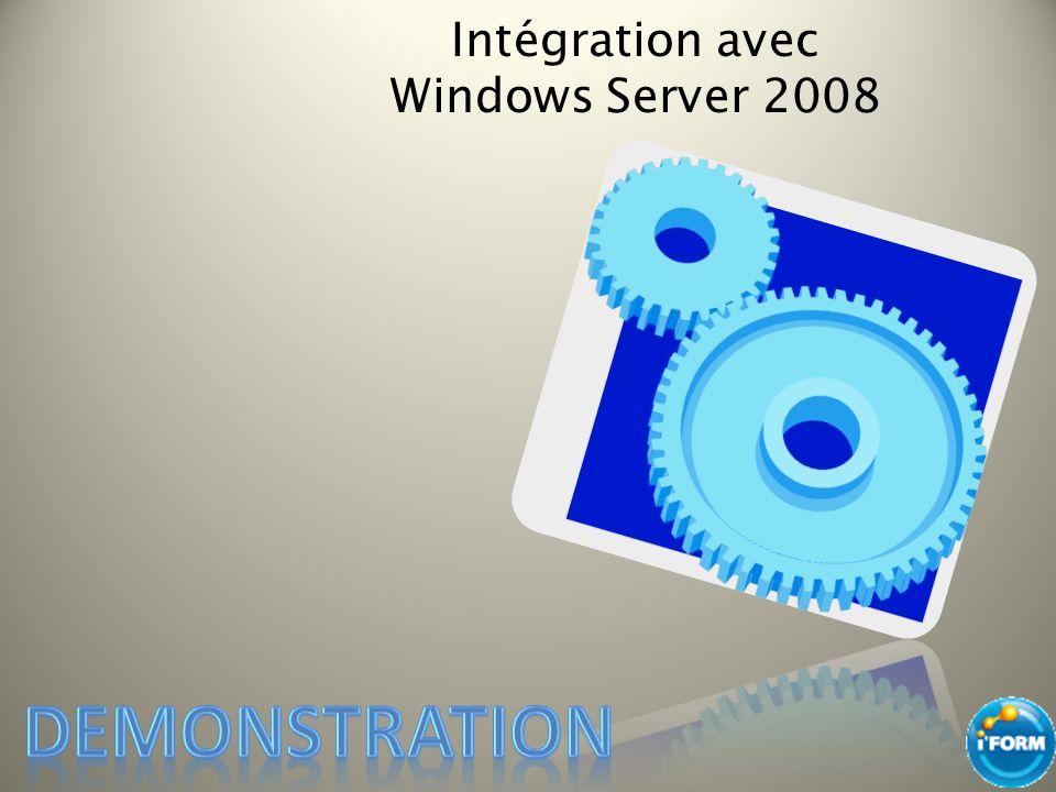 Intégration avec Windows Server 2008