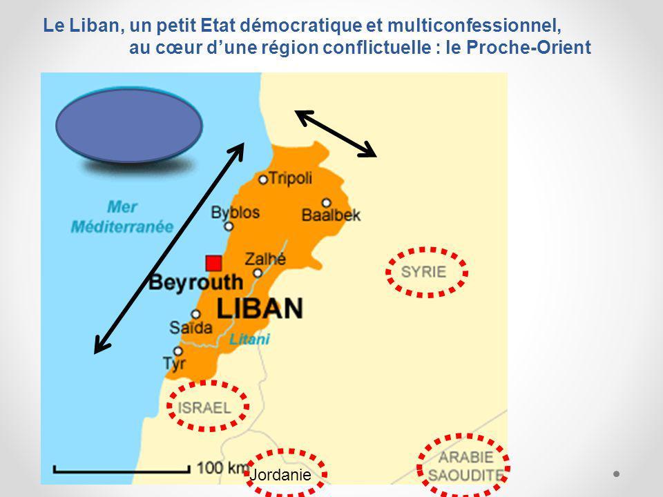 Le Liban, un petit Etat démocratique et multiconfessionnel, au cœur dune région conflictuelle : le Proche-Orient Jordanie