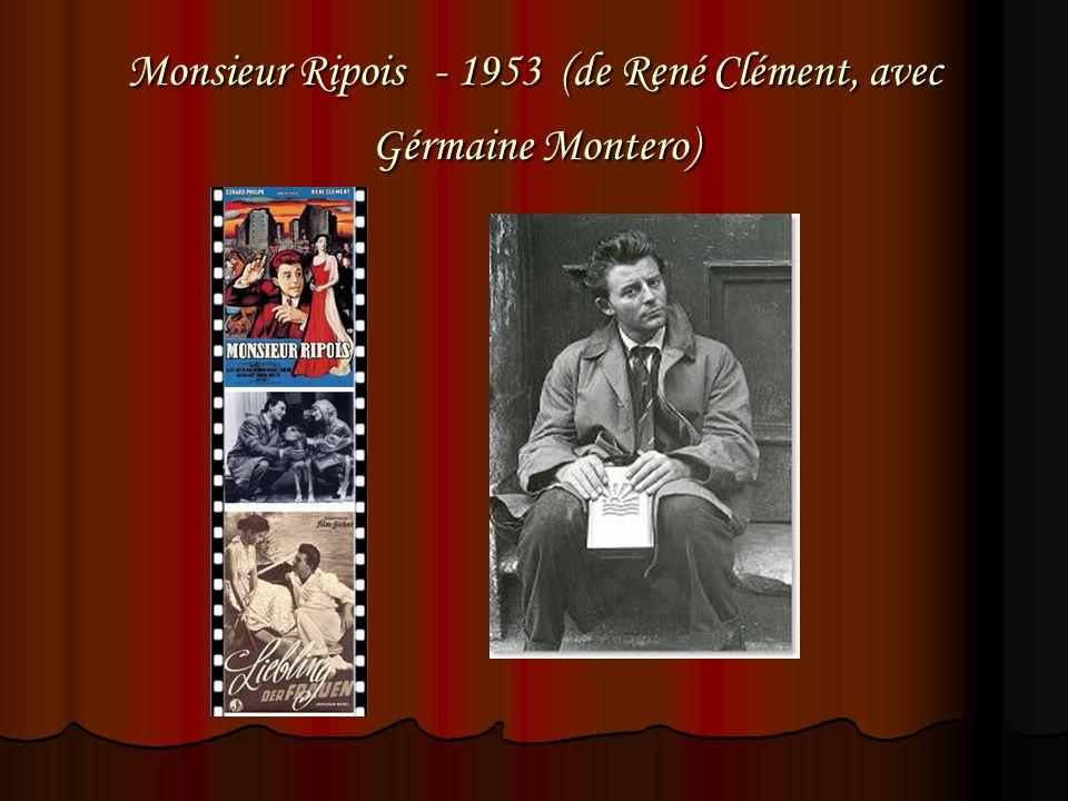 Monsieur Ripois - 1953 (de René Clément, avec Gérmaine Montero)