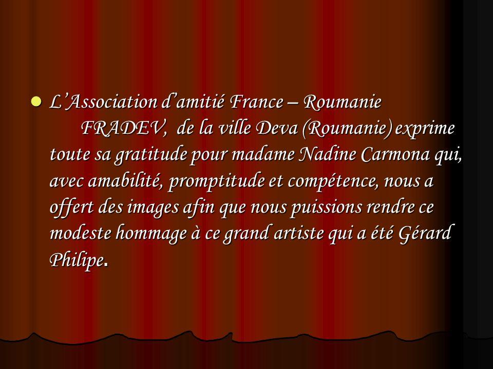 LAssociation damitié France – Roumanie FRADEV, de la ville Deva (Roumanie) exprime toute sa gratitude pour madame Nadine Carmona qui, avec amabilité,