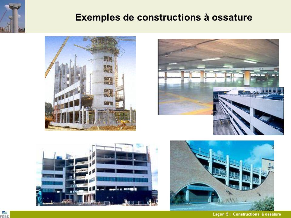 Leçon 5 : Constructions à ossature Exemples de constructions à ossature Parkings Bâtiments de bureaux
