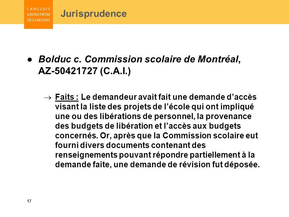 17 Jurisprudence Bolduc c.