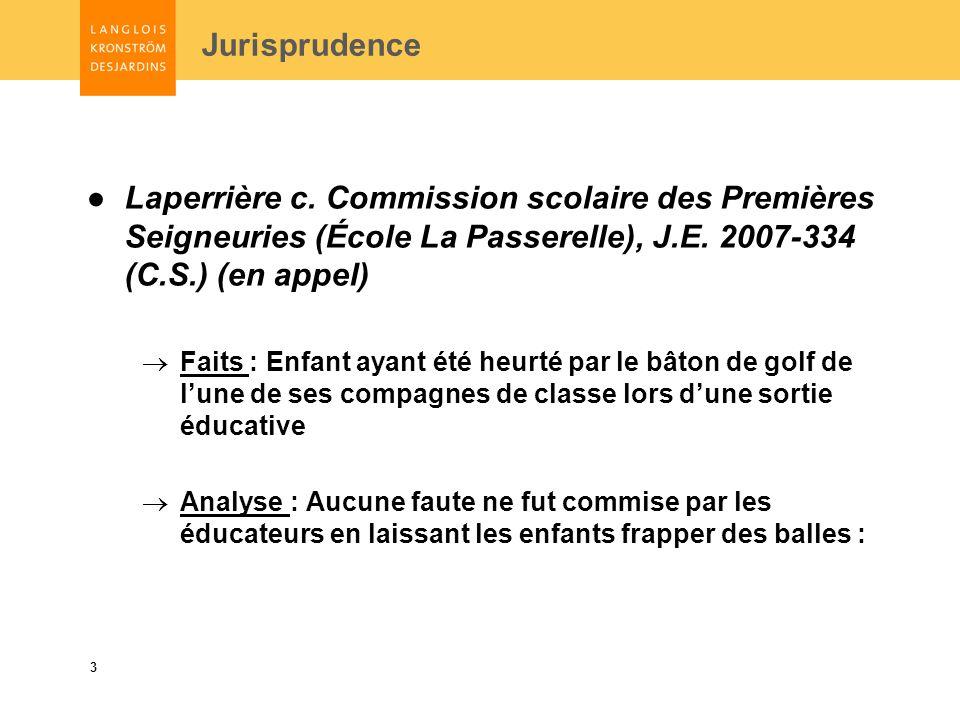 3 Jurisprudence Laperrière c.