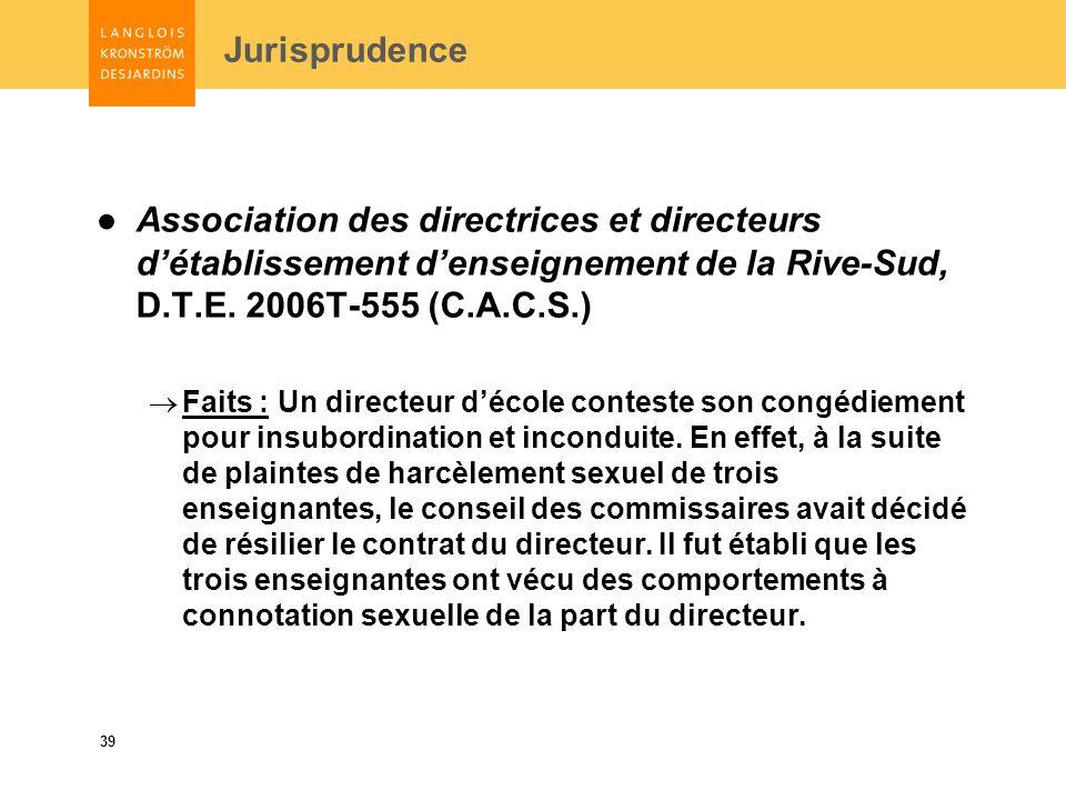 39 Association des directrices et directeurs détablissement denseignement de la Rive-Sud, D.T.E.