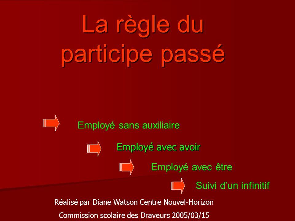 Ce diaporama vous permettra de réviser les règles du participe passé.