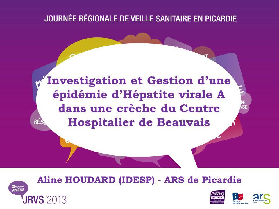 Investigation et Gestion dune épidémie dHépatite virale A dans une crèche du Centre Hospitalier de Beauvais Aline HOUDARD (IDESP) - ARS de Picardie