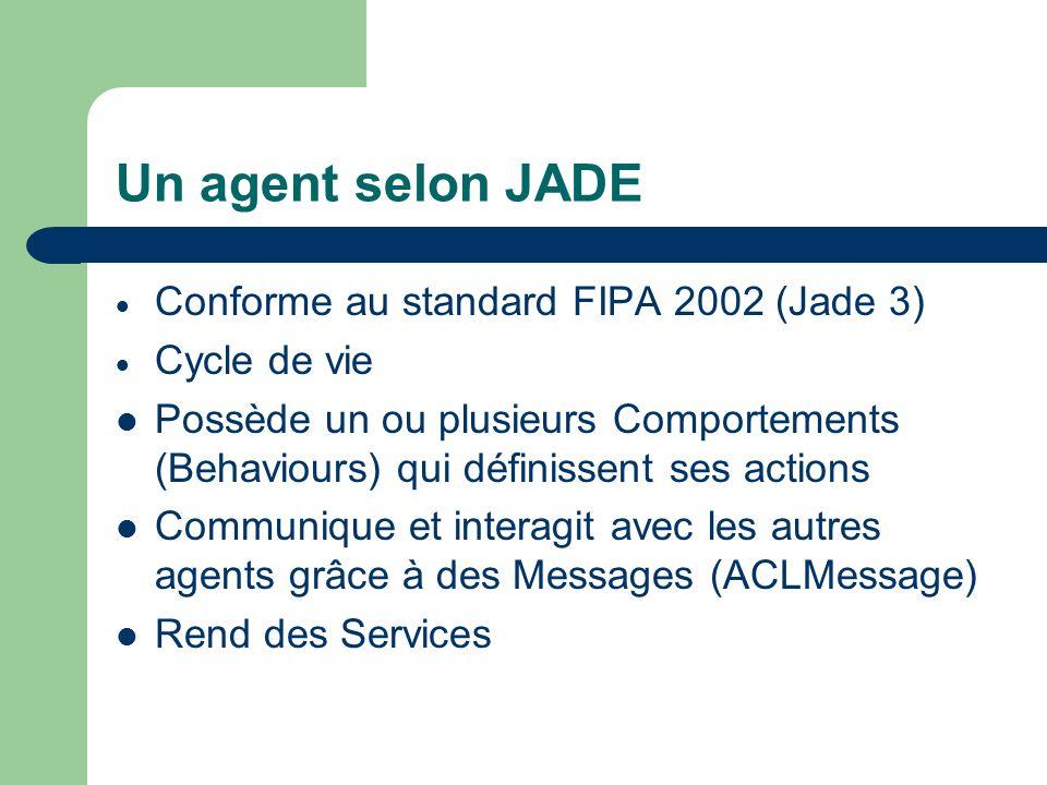 Plan Présentation générale Les agents JADE La plateforme Concrètement Les principaux intérêts Implémentation dans les détails