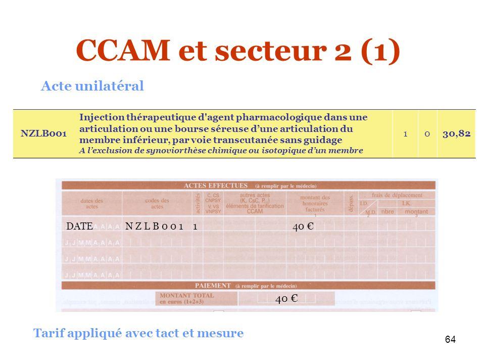 64 DATE N Z L B 0 0 1 1 40 40 NZLB001 Injection thérapeutique d'agent pharmacologique dans une articulation ou une bourse séreuse dune articulation du