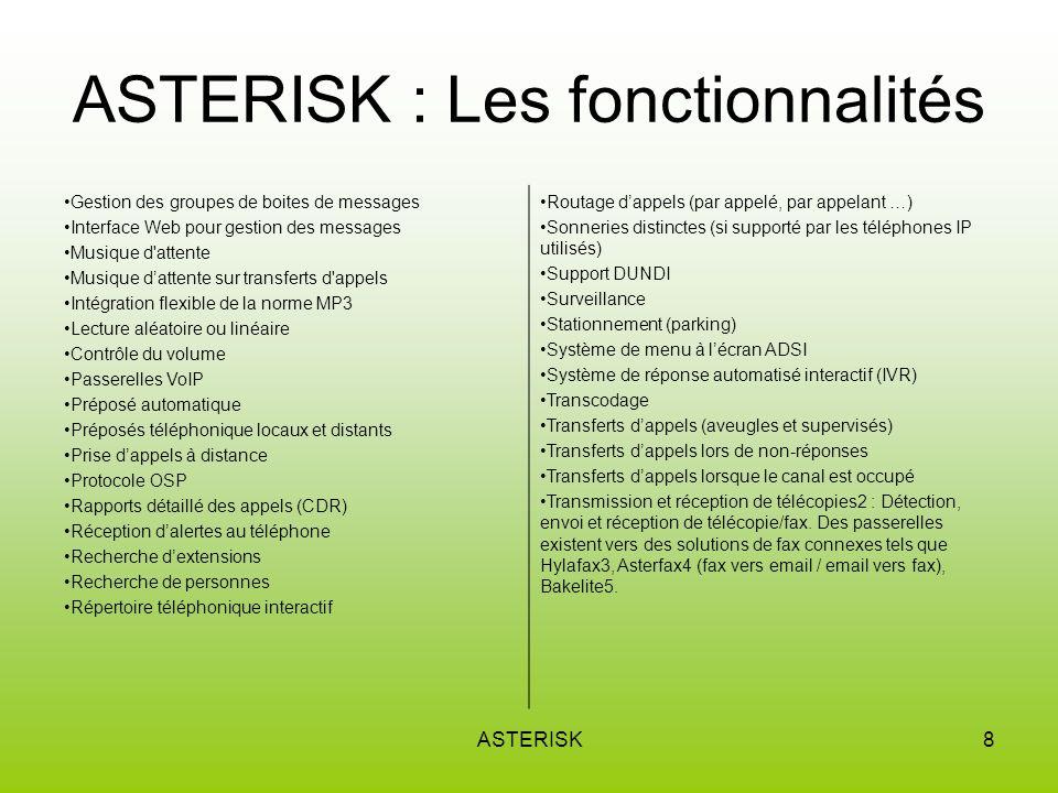 ASTERISK9 ASTERISK : Architecture Réseaux