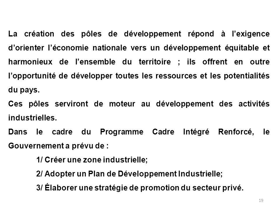 18 Et quelles sont les politiques en cours ? Dans le cadre du Document de Stratégie de Réduction de la Pauvreté (DSRP), le gouvernement a pris un cert