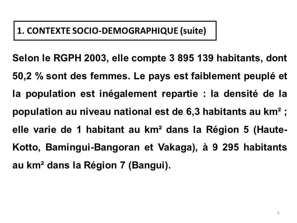 3 PREMIERE PARTIE PRESENTATION DE LA REPUBLIQUE CENTRAFRICAINE 1. CONTEXTE SOCIO-DEMOGRAPHIQUE La RCA est un pays enclavé de lAfrique centrale, sétend