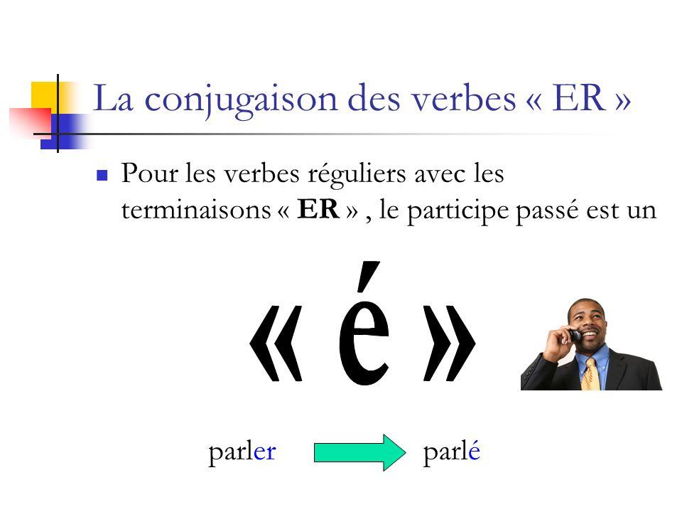 La conjugaison des verbes « ER » Pour les verbes réguliers avec les terminaisons « ER », le participe passé est un parlerparlé