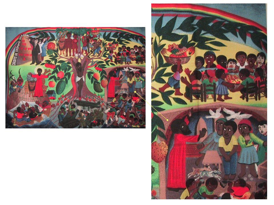 A droite, Jésus chasse les marchands du temple, les colombes et les chèvres s enfuient.