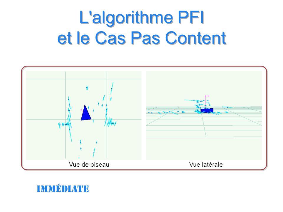 L algorithme PFI et le Cas Pas Content Vue latéraleVue de oiseau immédiate