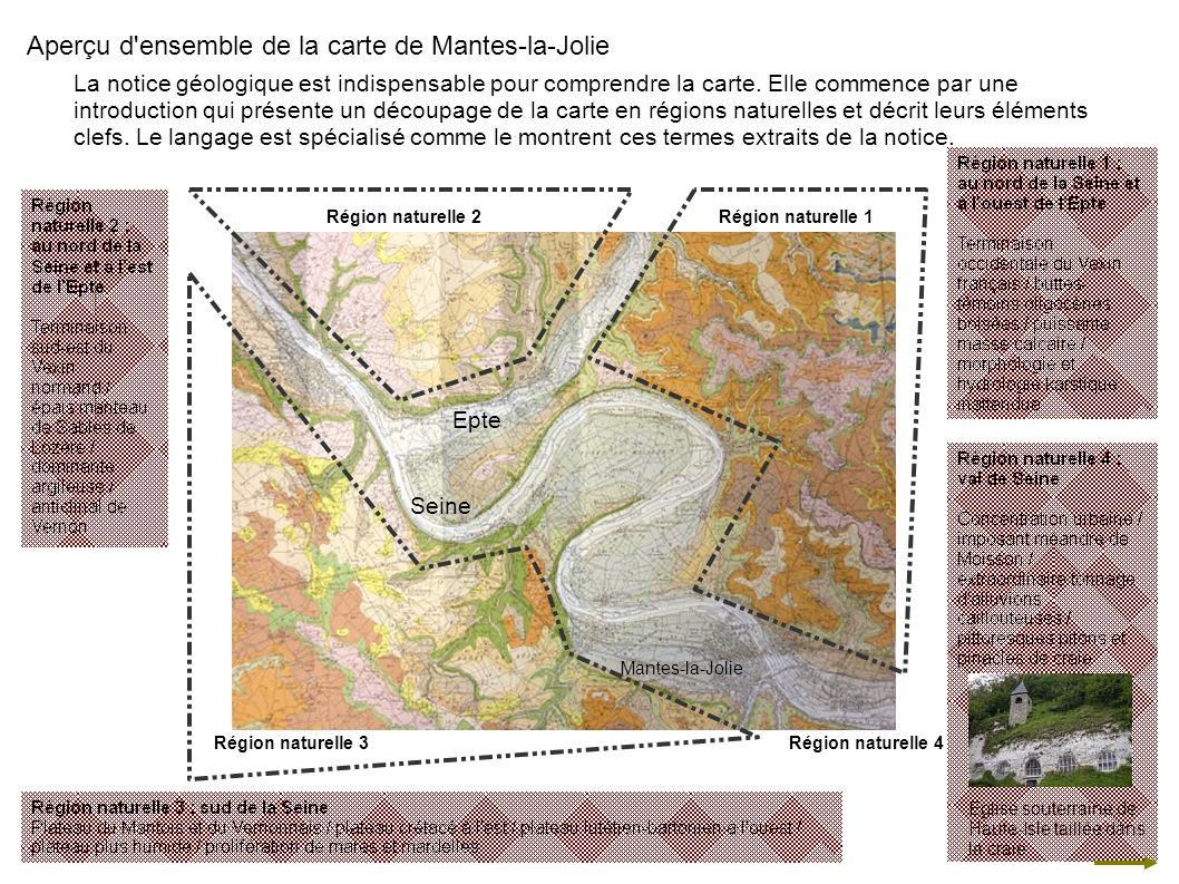 Seine Epte Mantes-la-Jolie Aperçu d'ensemble de la carte de Mantes-la-Jolie La notice géologique est indispensable pour comprendre la carte. Elle comm