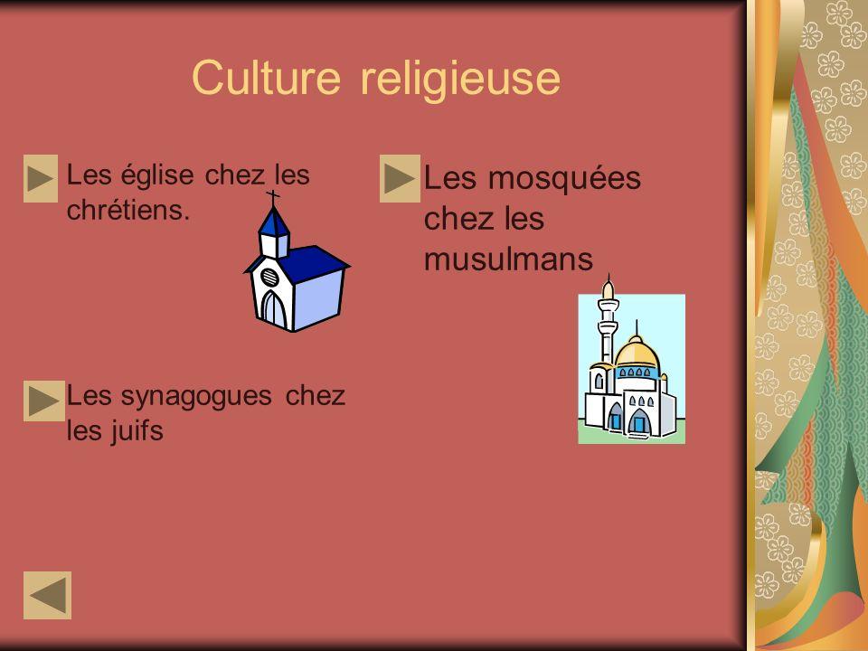 Culture religieuse Les église chez les chrétiens.