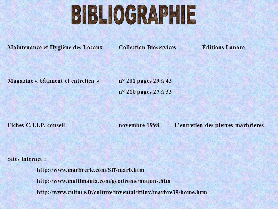 Maintenance et Hygiène des LocauxCollection BioservicesÉditions Lanore Magazine « bâtiment et entretien »n° 201 pages 29 à 43 n° 210 pages 27 à 33 Fic
