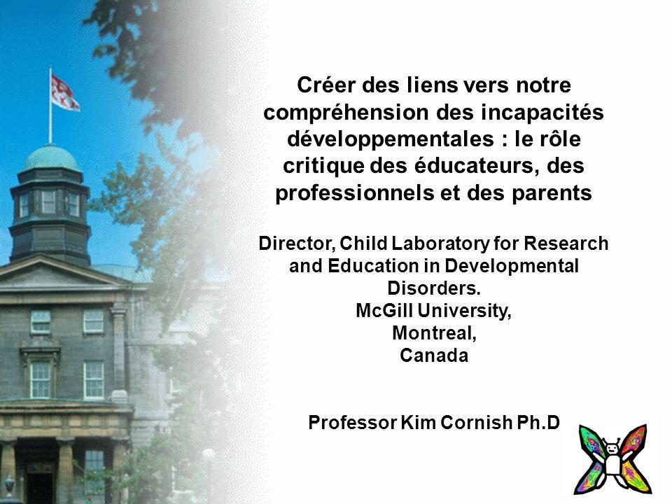 Créer des liens vers notre compréhension des incapacités développementales : le rôle critique des éducateurs, des professionnels et des parents Direct