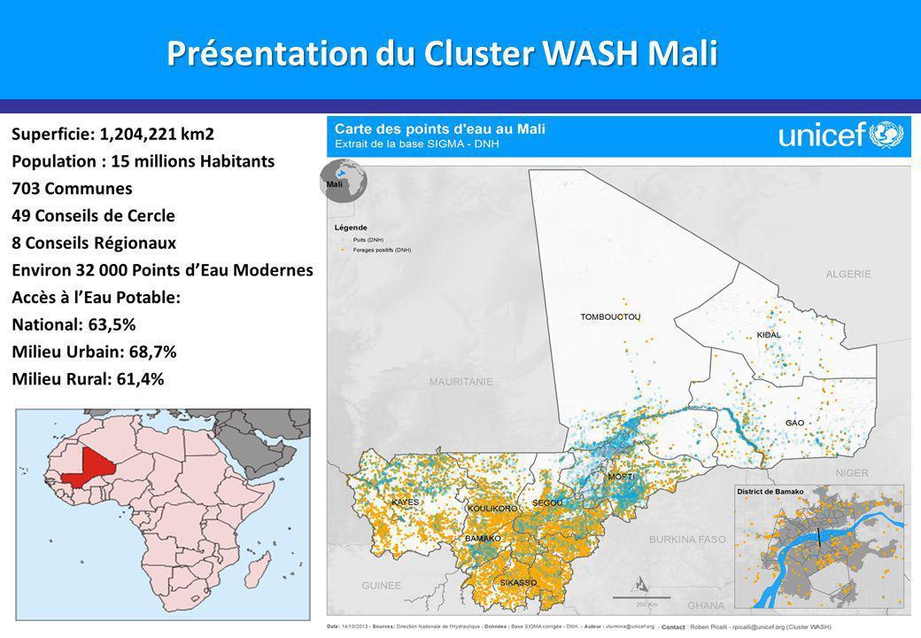 Groupe Pivot ADDA Présentation du Cluster WASH Mali Merci pour votre attention!