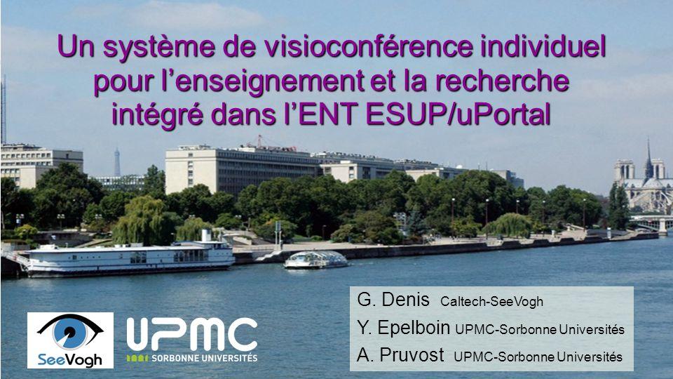 Caltech - UPMC JRES2011 22-25 novembre 2011 Toulouse4242 Une infrastructure internationale SeeVogh Campus aujourdhui : De une à 5 universités peuvent employer un serveur Panda commun Pas dinterconnexion, pas déchanges entre serveurs En projet : Un réseau peer-to-peer Coopération avec les NREN et TERENA?