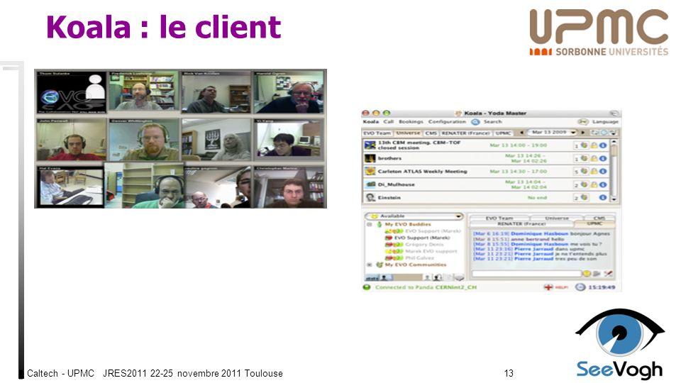 Caltech - UPMC JRES2011 22-25 novembre 2011 Toulouse1313 Koala : le client