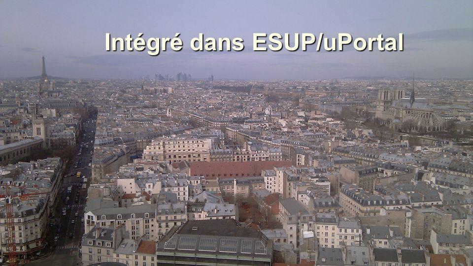 Caltech - UPMC JRES2011 22-25 novembre 2011 Toulouse2525 Intégré dans ESUP/uPortal