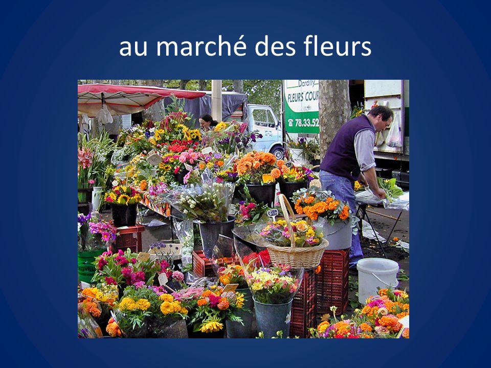 au marché des fleurs