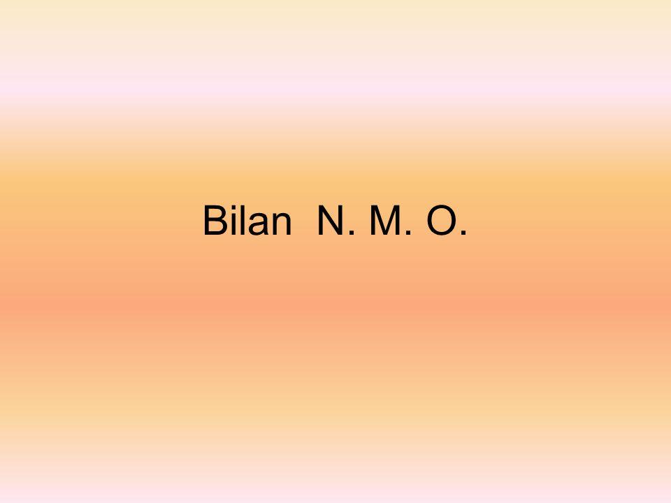Bilan N. M. O.