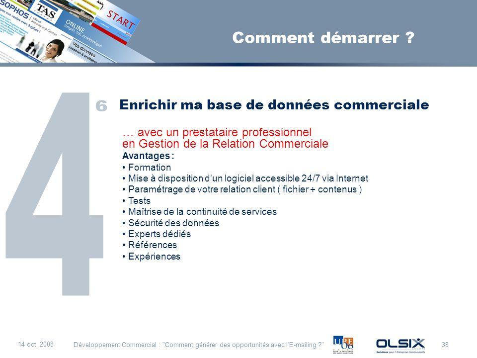 38 14 oct. 2008 Développement Commercial :