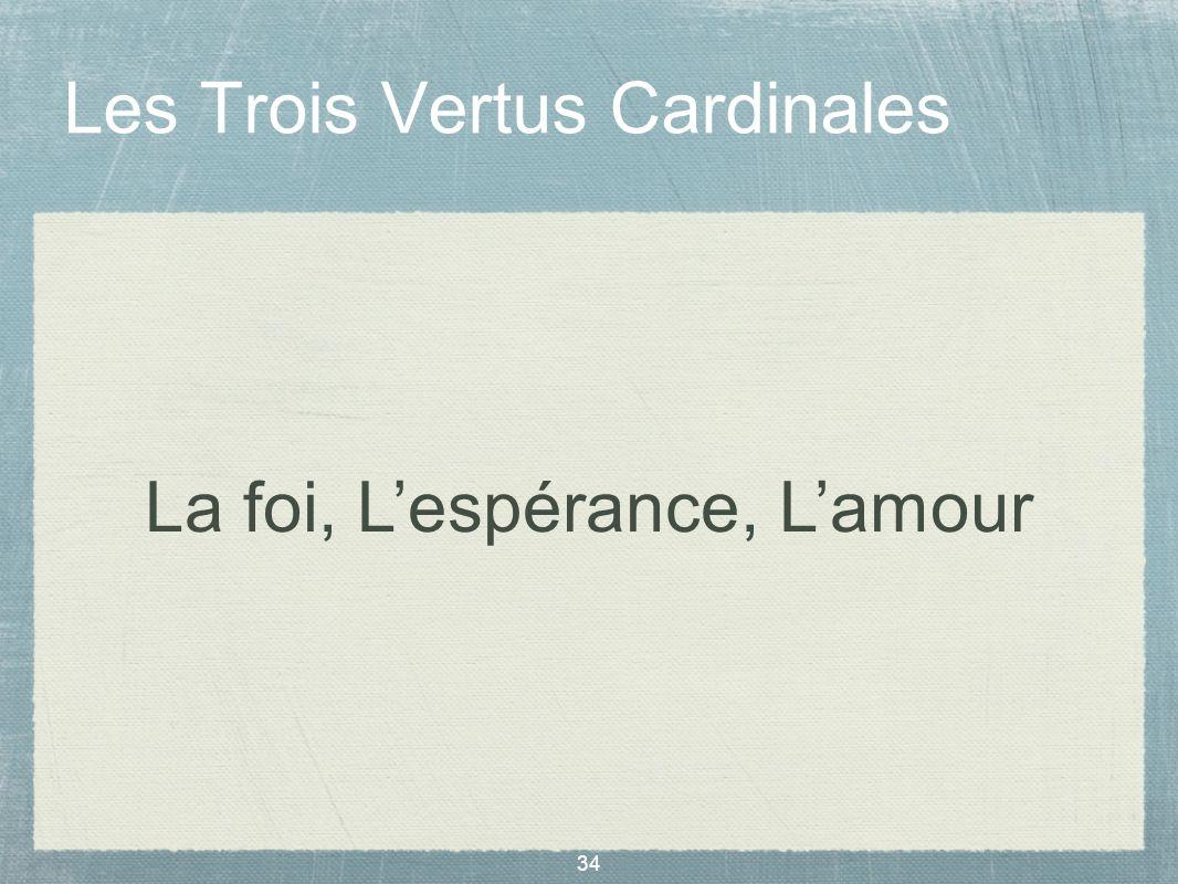 34 Les Trois Vertus Cardinales La foi, Lespérance, Lamour
