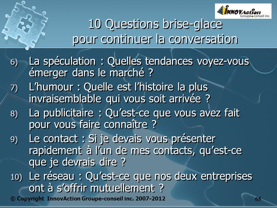 © Copyright InnovAction Groupe-conseil inc.