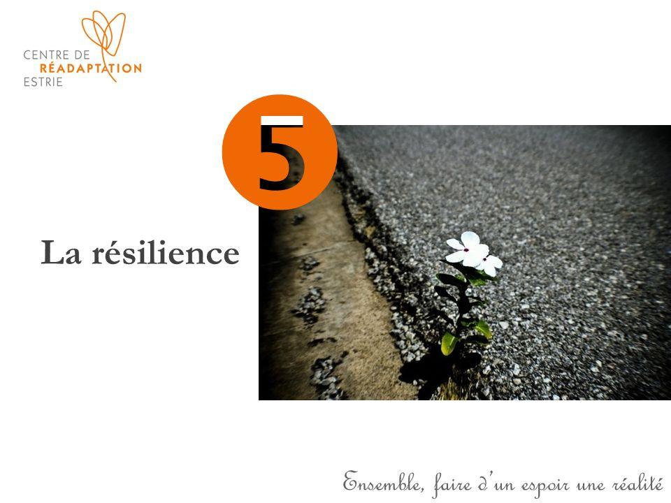 Ensemble, faire dun espoir une réalité La résilience