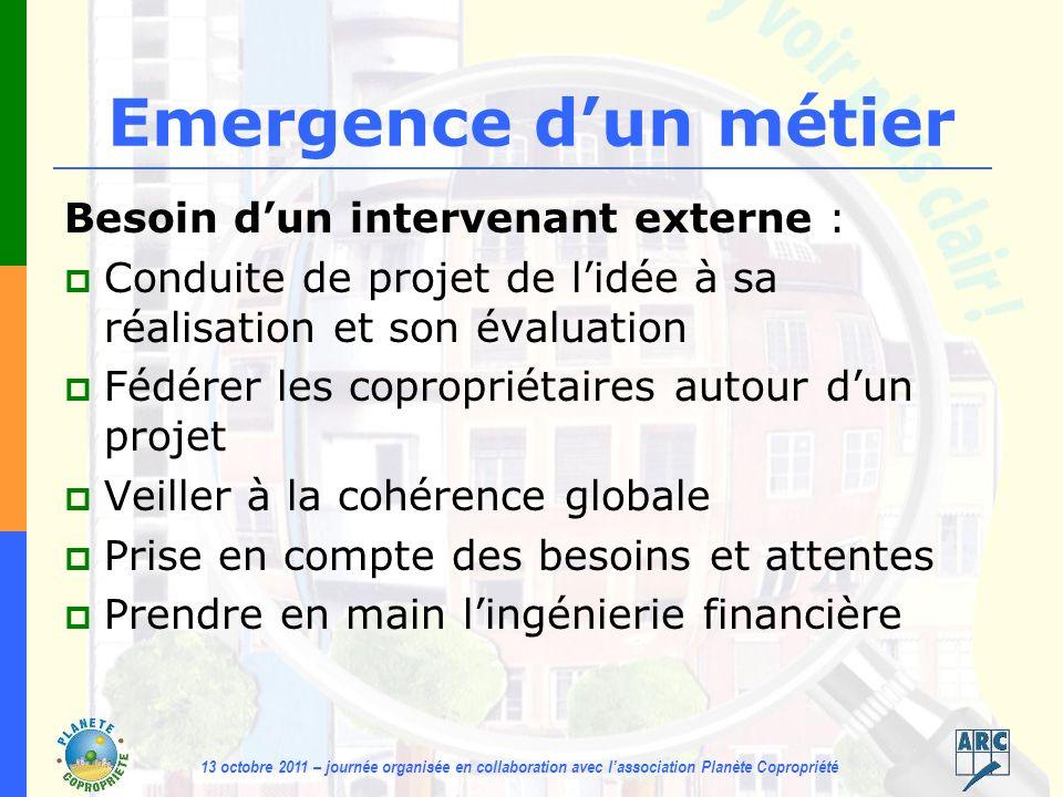 13 octobre 2011 – journée organisée en collaboration avec lassociation Planète Copropriété La démarche 1.