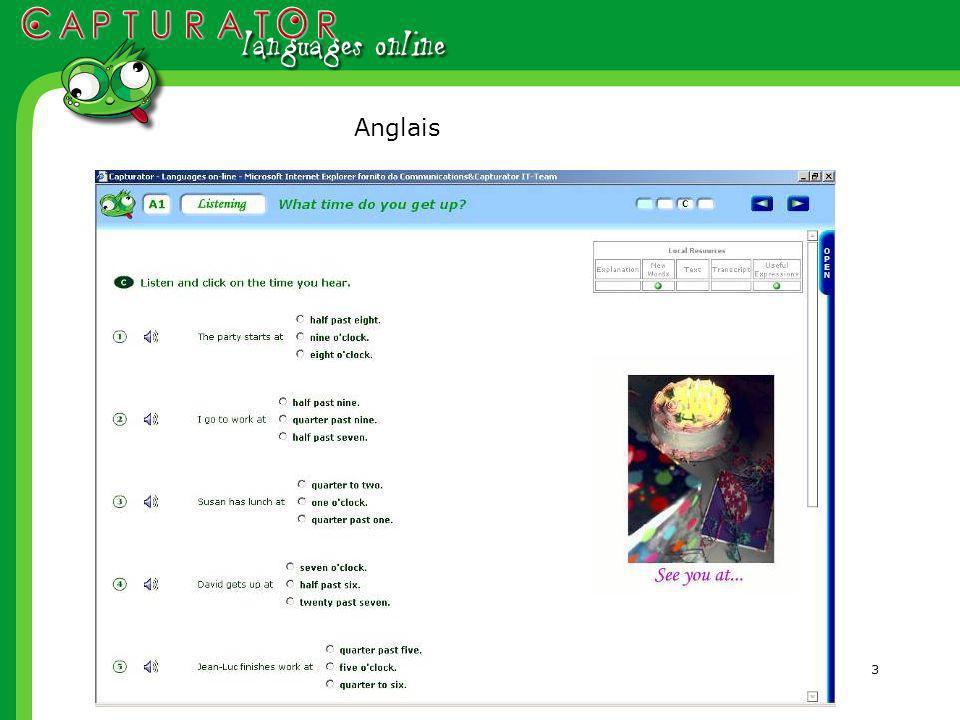 24 Localisation des cours Pour des apprenants francophones Avec la traduction des explications de grammaire