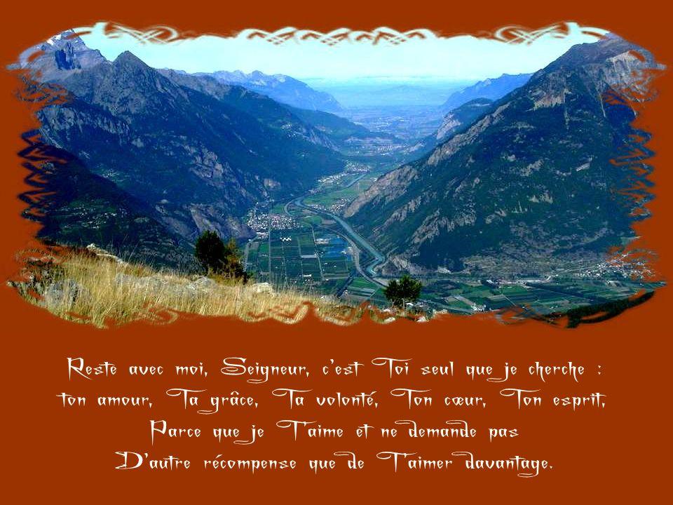 Reste avec moi, Jésus. Je ne Te demande pas les consolations divines, Parce que je ne les mérite pas, Mais, le don de Ta présence, oh ! oui, je Te le
