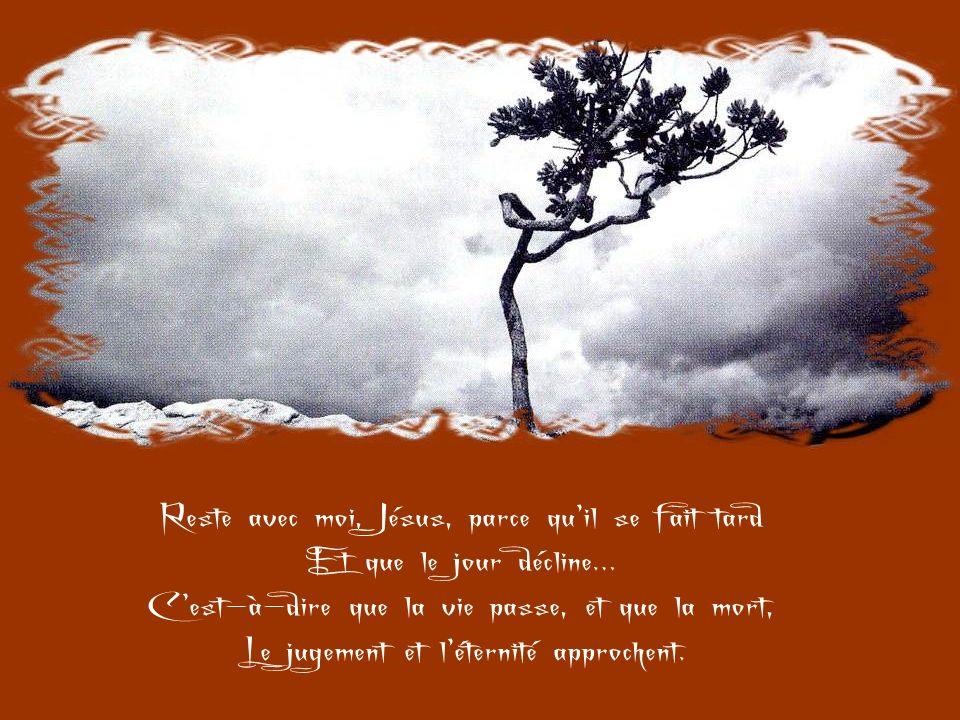 Reste avec moi, Jésus, parce que, si pauvre que soit mon âme, Elle désire être pour Toi Un lieu de consolation, un nid damour.