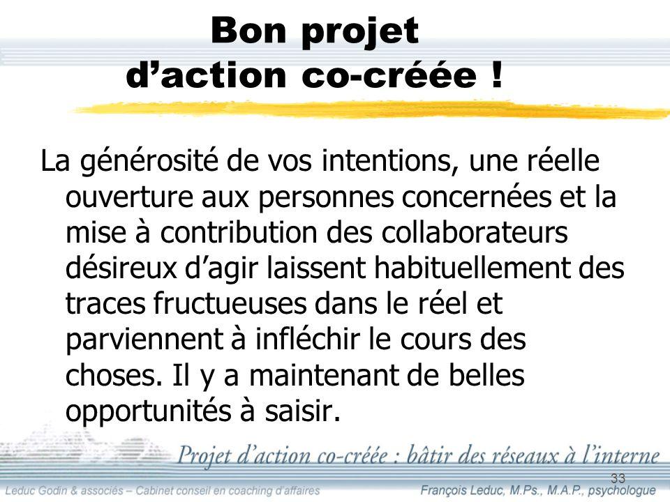 33 Bon projet daction co-créée .