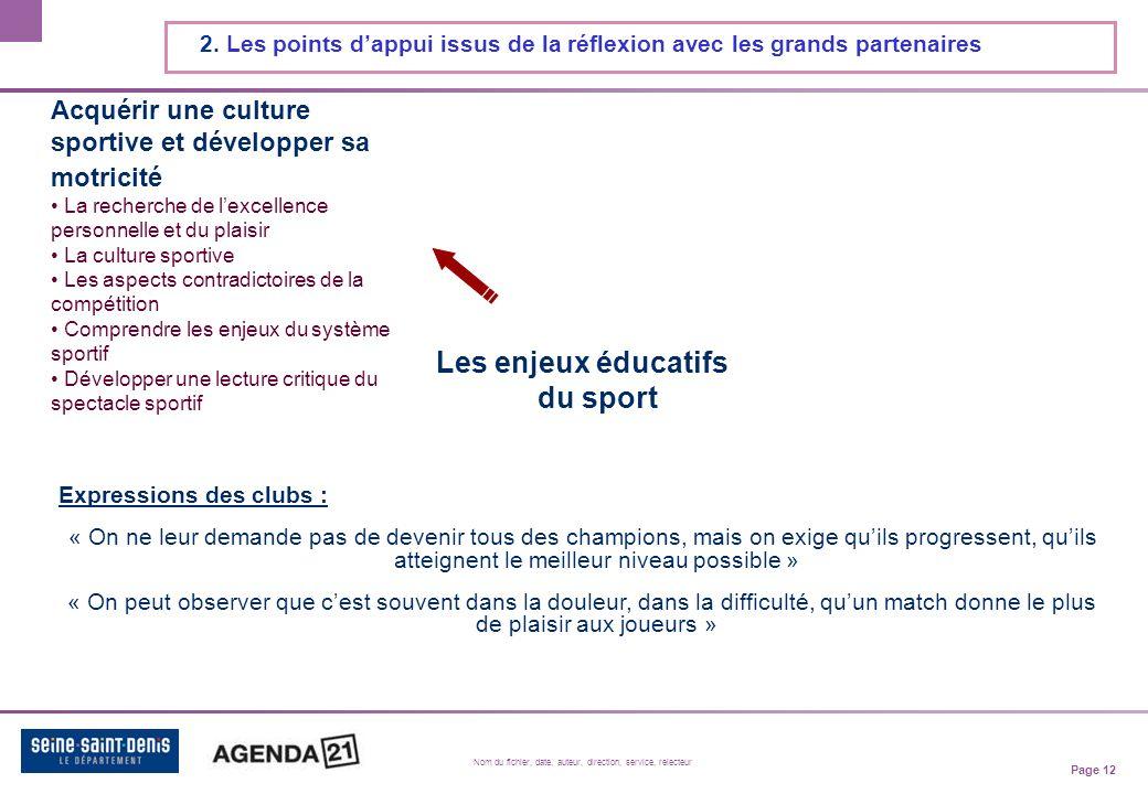 Page 12 Nom du fichier, date, auteur, direction, service, relecteur 2.