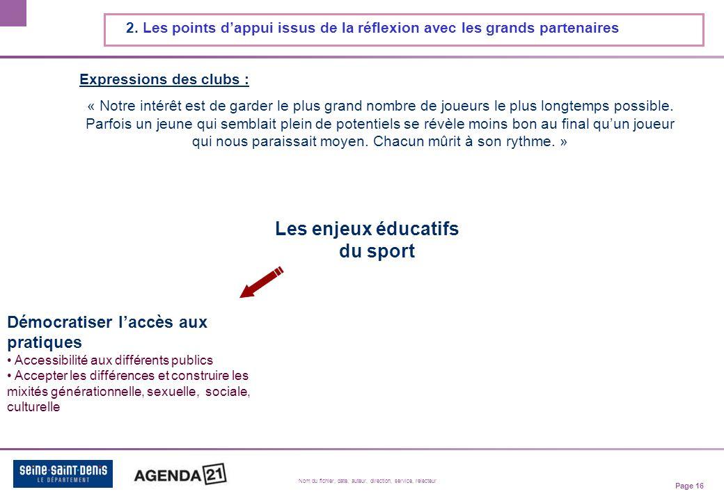 Page 16 Nom du fichier, date, auteur, direction, service, relecteur 2.