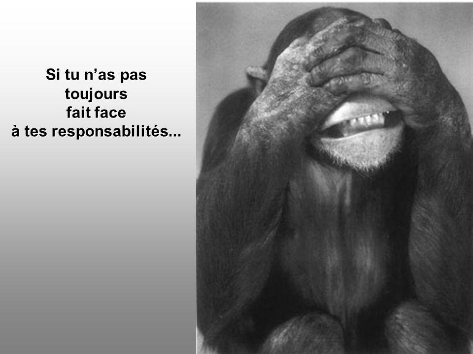 Si tu nas pas toujours fait face à tes responsabilités...
