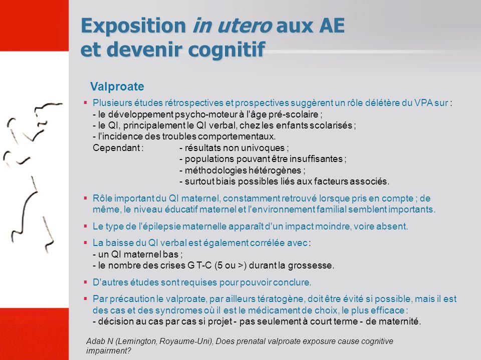 Exposition in utero aux AE et devenir cognitif Adab N (Lemington, Royaume-Uni), Does prenatal valproate exposure cause cognitive impairment? Plusieurs